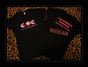 LADIES-CHOPPERSHOP CHOPPERS T-SHIRT (black w/ hot-pink letters)